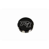Reservoir cap Color Black Engraving R1 Material Billet Side Front Type 1 cap | ID A2979AB