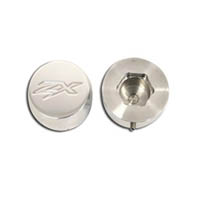 Fork caps Color Silver & Chrome Engraving ZX Style Flat   ID A3058