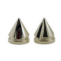 Fork caps Color Silver Style Spiked   ID A3707