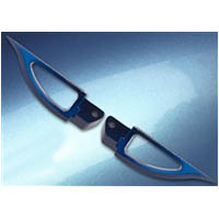 Footpegs Color Blue Side Rear Style Blade | ID A4262BU