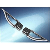 Footpegs Color Silver Side Front Style Blade | ID A4263