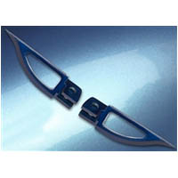 Footpegs Color Blue Side Front Style Blade | ID A4263BU