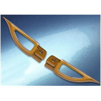 Footpegs Color Gold Side Front Style Blade | ID A4263G
