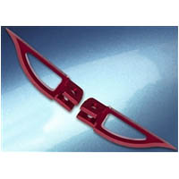 Footpegs Color Red Side Front Style Blade | ID A4263R
