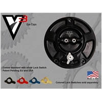 Vortex Gas Cap Black Color Black Engraving Vortex Style V3 Type Regular | ID GC420K