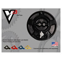Vortex Gas Cap Black Color Black Engraving Vortex Style V3 Type Regular | ID GC510K