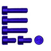 Gas cap screw kit Color Blue | ID GTBK201BU