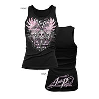 Tank top Color Black Size Large Style Sugar Skull Type Womens | ID JP60202L