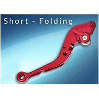 Lever Adjustable Handle Color Red Engraving No Side Brake Style Short folding | ID LBF | RED