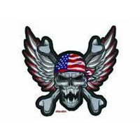 Winged usa skull patch | ID LT30030