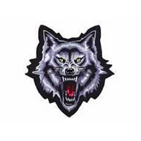 Wolf growl 12x12in patch | ID LT30037