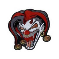 Jester face lg 10x10in patch | ID LT30042