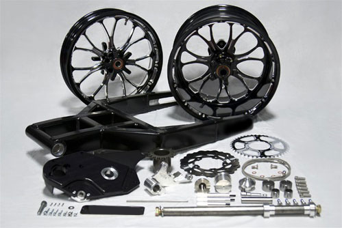 FAT300 Custom Cycles ZX14 Accessories, ZX14 300 MM FAT TIRE KITS