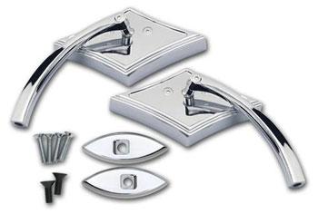 Fat300 Custom Cycles Chrome Diamond Mirror Package