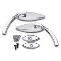 Chrome Pro Mini Smooth Mirror Package Kawasaki ZX14 | ID 2098