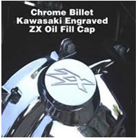 ZX14 Chrome Billet Oil Fill Cap ZX Engraved | ID 865