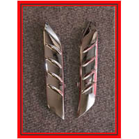 ZX14 Chrome Fender Fins | ID 2316