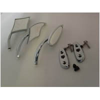 Honda Chrome Mirrors With Blockoff Plate | ID 429