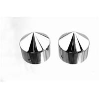 Kawasaki ZX14 Smooth Spike Fork Caps | ID 415